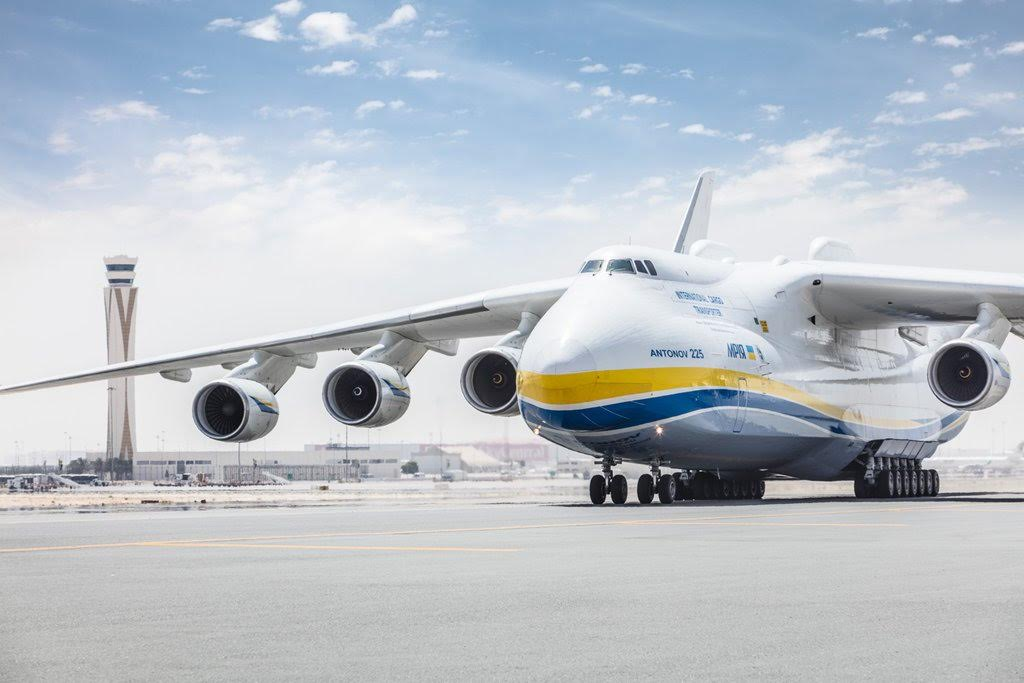 The Ukrainian-built Antonov An-225 Mriya aircraft, the world's largest plane